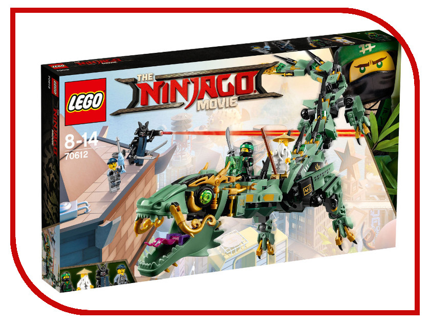 Конструктор Lego Ninjago Механический дракон зеленого ниндзя 70612 lego канцелярский набор ninjago 2 предмета 51865