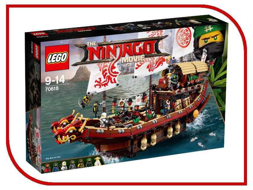 Конструктор Lego Ninjago Храм летающий корабль мастера Ву 70618 конструктор lego ninjago 70633 кай мастер кружитцу