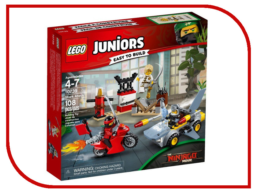 Конструктор Lego Juniors Нападение акулы 10739 hikvision original english h 265 8mp mini ip camera ds 2cd2085fwd i 4k bullet outdoor cctv surveillance camera onvif poe ip67