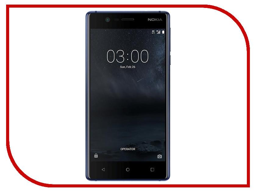 Сотовый телефон Nokia 3 Dual Sim Blue сотовый телефон nokia 222