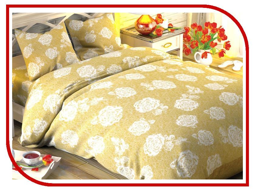 Постельное белье Этель Кремовая роза Комплект 2 спальный Поплин 1504627 bello interni шкаф etel