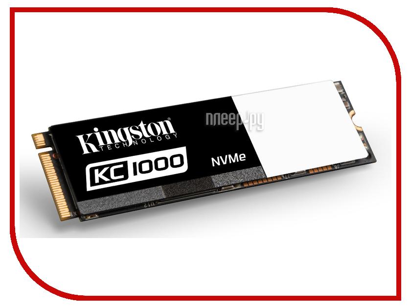 Жесткий диск 480Gb - Kingston KC1000 SKC1000/480G накопитель ssd kingston sms200s3 480g sms200s3 480g