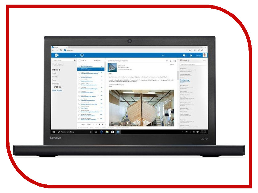 Ноутбук Lenovo ThinkPad X270 20HN0016RT (Intel Core i5-7200U 2.5 GHz/8192Mb/256Gb SSD/No ODD/Intel HD Graphics/Wi-Fi/Bluetooth/Cam/12.5/1920x1080/Windows 10 64-bit) коаксиальная автоакустика mystery mc 643