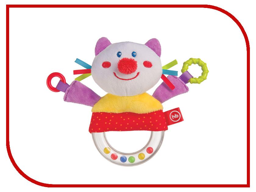 Игрушка Happy Baby Погремушка с пищалкой Кот 330357 happy baby погремушка прорезыватель музыкальная от 3 мес