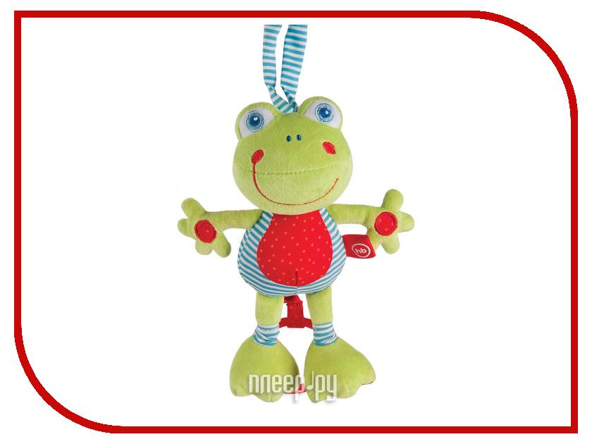 Игрушка Happy Baby Музыкальная игрушка-растяжка Лягушка 330361 happy baby погремушка прорезыватель музыкальная от 3 мес