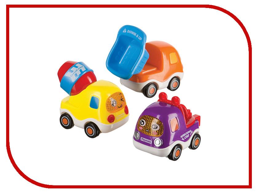 Машина Happy Baby Набор веселых грузовичков с инерционным механизмом Car4Fun 330066