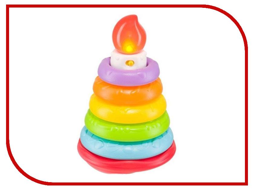 Игрушка Happy Baby Музыкальная пирамидка Happy Cake 330080 happy baby погремушка прорезыватель музыкальная от 3 мес