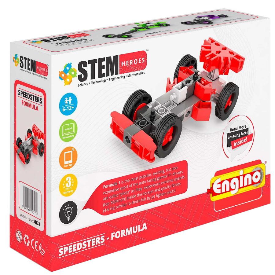 Конструктор Engino Stem Heroes Скоростные механизмы Формула SH31