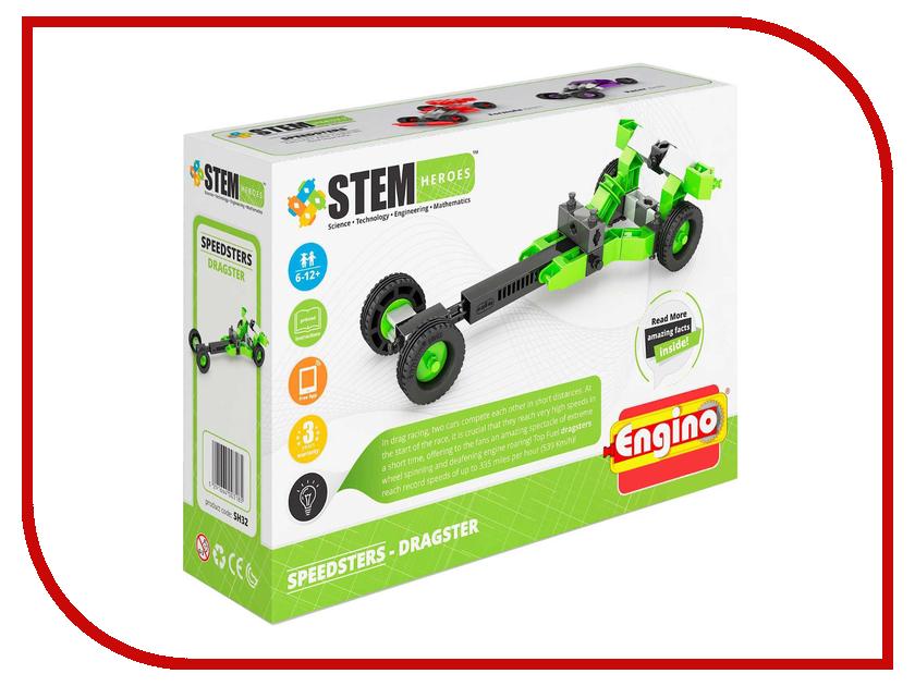 Конструктор Engino Stem Heroes Скоростные механизмы Драгстер SH32 детские скоростные велосипеды