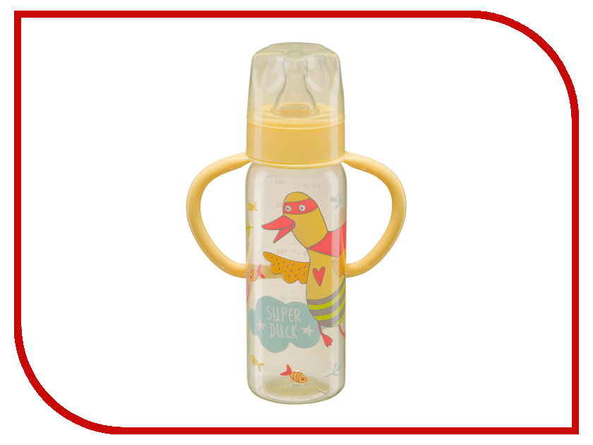 Бутылочка Happy Baby Baby Bottle 250ml Yellow 10007