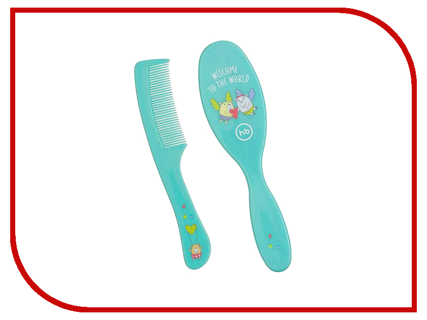 Hairbrush Comb  Расческа Happy Baby Hairbrush Comb Light Blue 17000