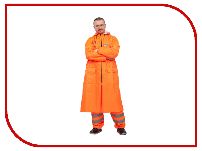Плащ-дождевик Water Proofline Poseidon WPL 7.102 р.48-50/170-176 Orange костюм water proofline hunter wpl р 48 50 170 176 7 204