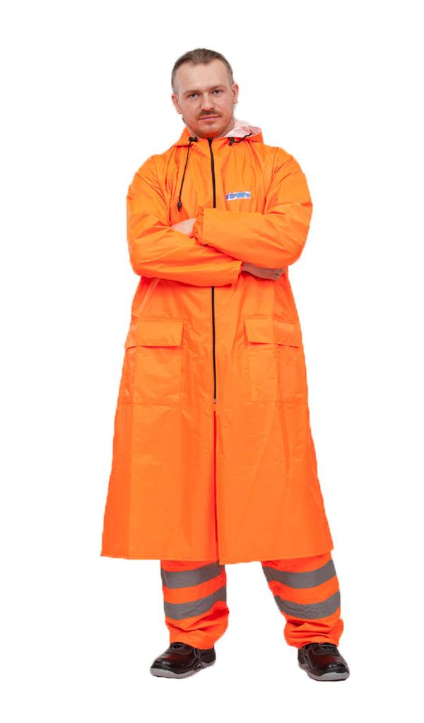 Плащ-дождевик Water Proofline Poseidon р.48-50/182-188 Orange