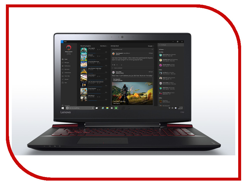 Ноутбук Lenovo Y700-15ISK 80NV0115RK (Intel Core i5-6300HQ 2.3 GHz/6144Mb/1000Gb/No ODD/nVidia GeForce GTX 960M 4096Mb/Wi-Fi/Bluetooth/Cam/15.6/1920x1080/Windows 10 64-bit) ноутбук lenovo ideapad y700 15isk 80nv0042rk 80nv0042rk