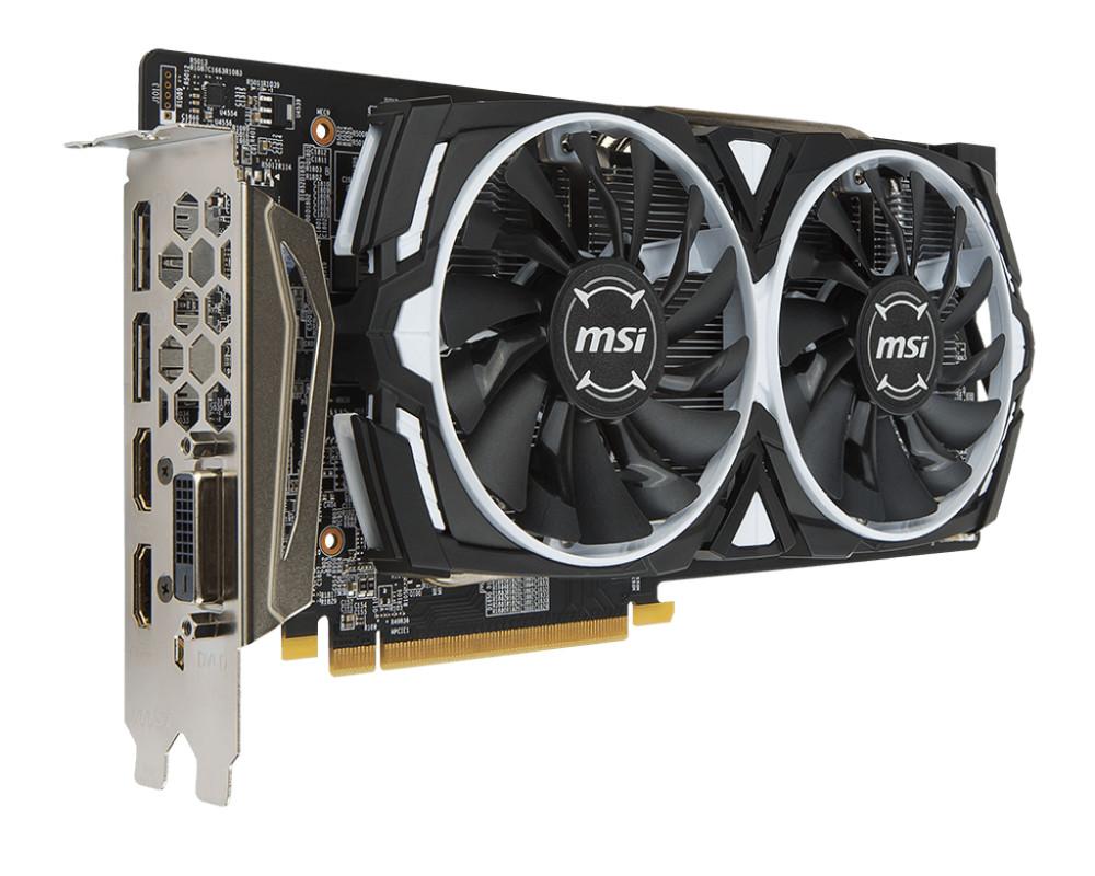 Видеокарта MSI Radeon RX 580 1340Mhz PCI-E 3.0 8192Mb 8000Mhz 256 bit DVI 2xHDMI HDCP ARMOR 8G