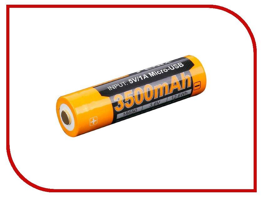 Аккумулятор Fenix 18650 3500 mAh ARB-L18-3500U (1 штука) fenix hl23 gold