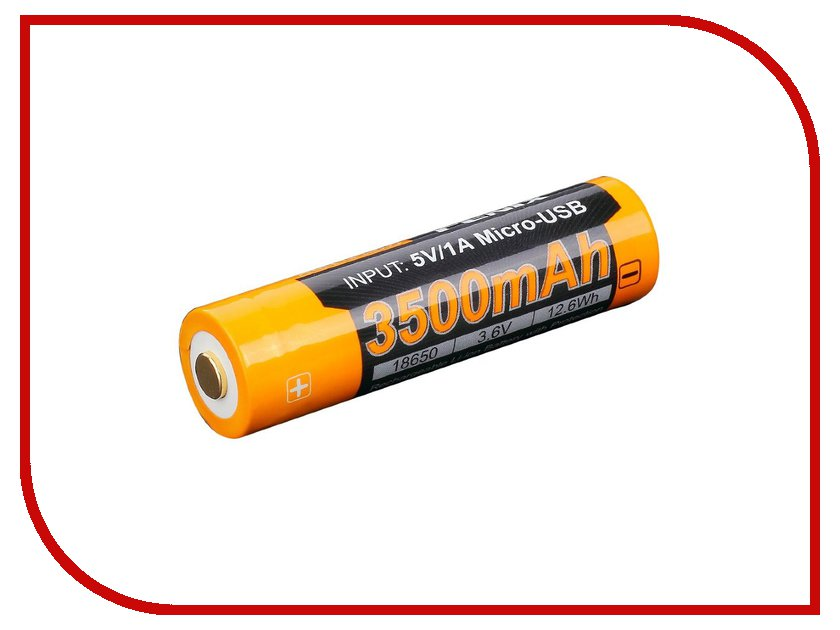 Аккумулятор Fenix 18650 3500 mAh ARB-L18-3500U (1 штука)