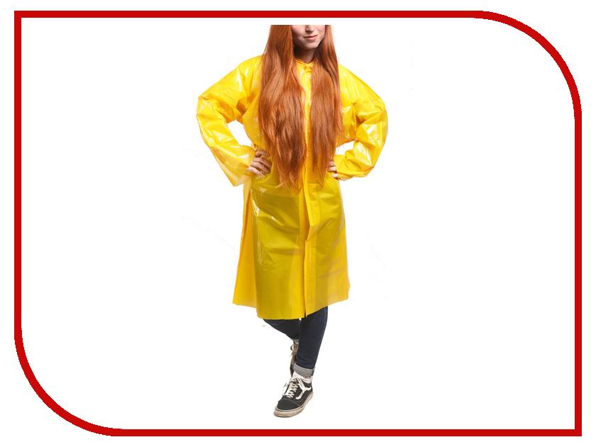 Плащ-дождевик Русский дождевик Люкс 80мкр р.UNI Yellow
