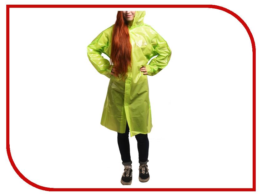 Плащ-дождевик Русский дождевик Люкс 80мкр р.UNI Lime Green