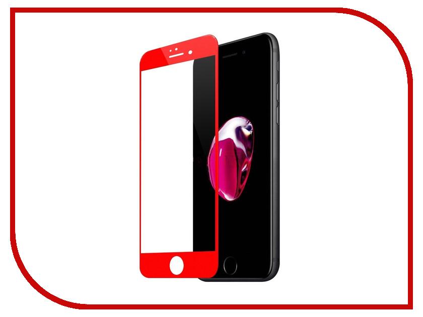 Аксессуар Защитное стекло Krutoff Group 3D для APPLE iPhone 7 Red 20413 аксессуар защитное стекло krutoff front
