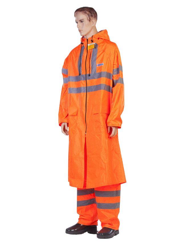 Плащ-дождевик Water Proofline Extra-Vision р.56-58/170-176 Orange