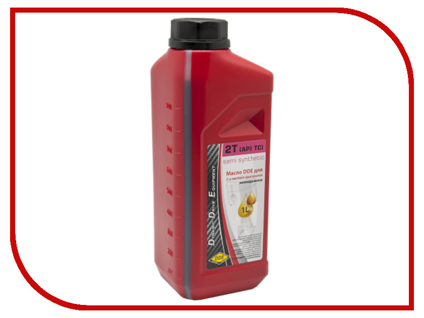 Масло DDE 1L синтетическое Red SS-2T для 2-х тактных двигателей trs 5r 25xc25x200l 2t indexable end mill cutter arbor for round rdmt10t3 carbide inserts