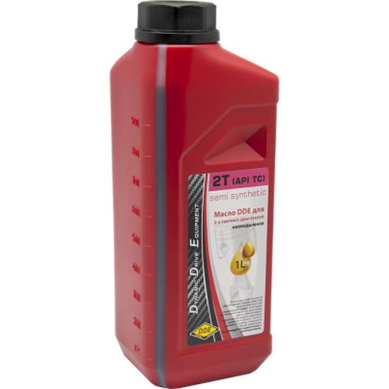 Масло DDE 1L синтетическое Red SS-2T для 2-х тактных двигателей масло dde ss 2t