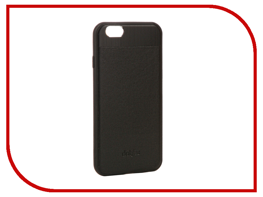 Аксессуар Чехол-накладка Dotfes G03 Aluminium Alloy Nappa Leather Case для APPLE iPhone 6/6S Black 47080