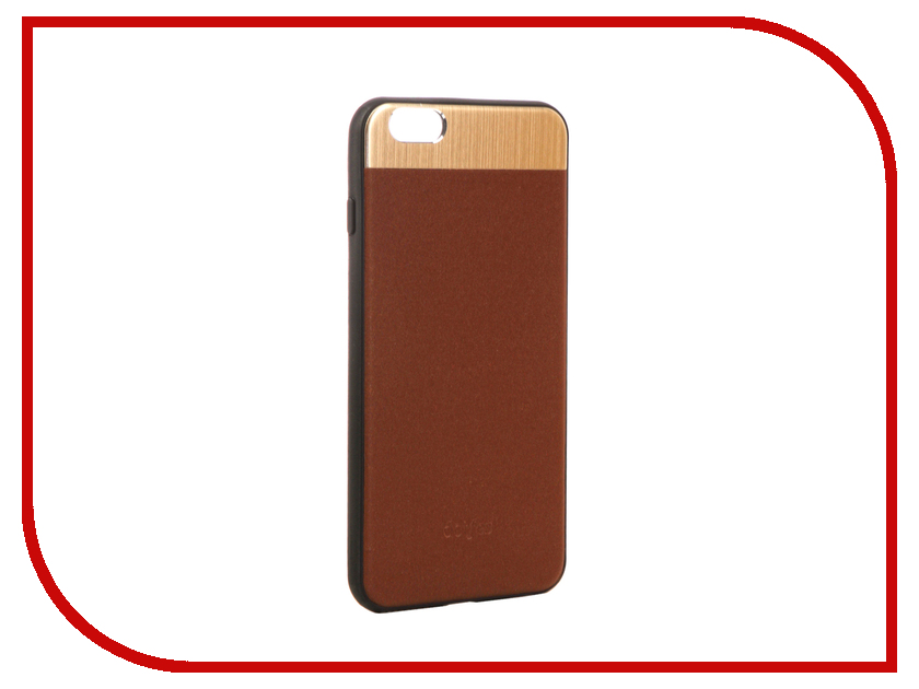 Аксессуар Чехол-накладка Dotfes G03 Aluminium Alloy Nappa Leather Case для APPLE iPhone 6 Plus/6S Plus Brown 47082 emote alloy