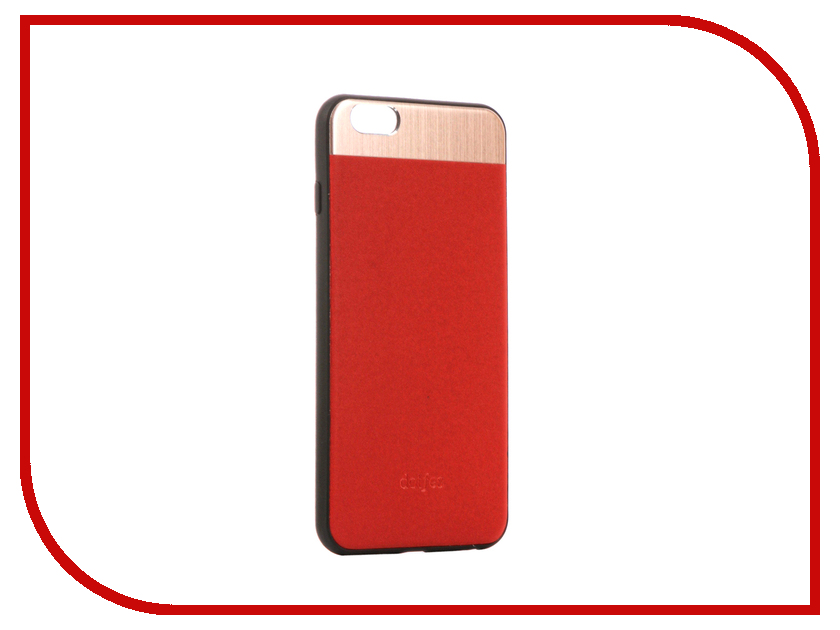 Аксессуар Чехол-накладка Dotfes G03 Aluminium Alloy Nappa Leather Case для APPLE iPhone 6 Plus/6S Plus Red 47081 emote alloy
