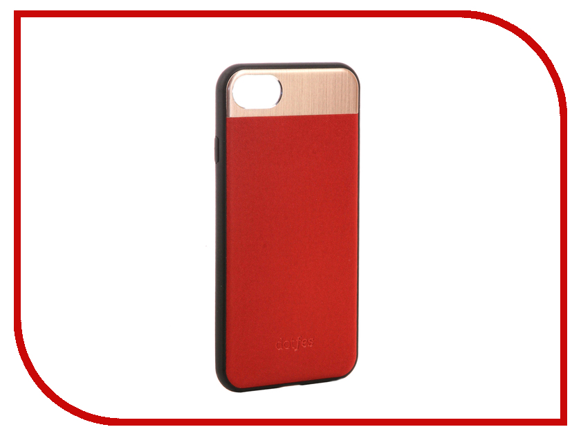 Аксессуар Чехол-накладка Dotfes G03 Aluminium Alloy Nappa Leather Case для APPLE iPhone 7 Red 47085 emote alloy