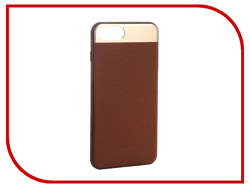 Аксессуар Чехол-накладка Dotfes G03 Aluminium Alloy Nappa Leather Case для APPLE iPhone 7 Plus Brown 47090 emote alloy