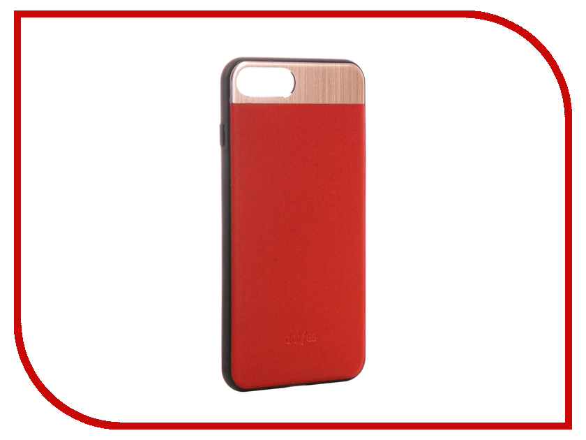 Аксессуар Чехол-накладка Dotfes G03 Aluminium Alloy Nappa Leather Case для APPLE iPhone 7 Plus Red 47089 emote alloy