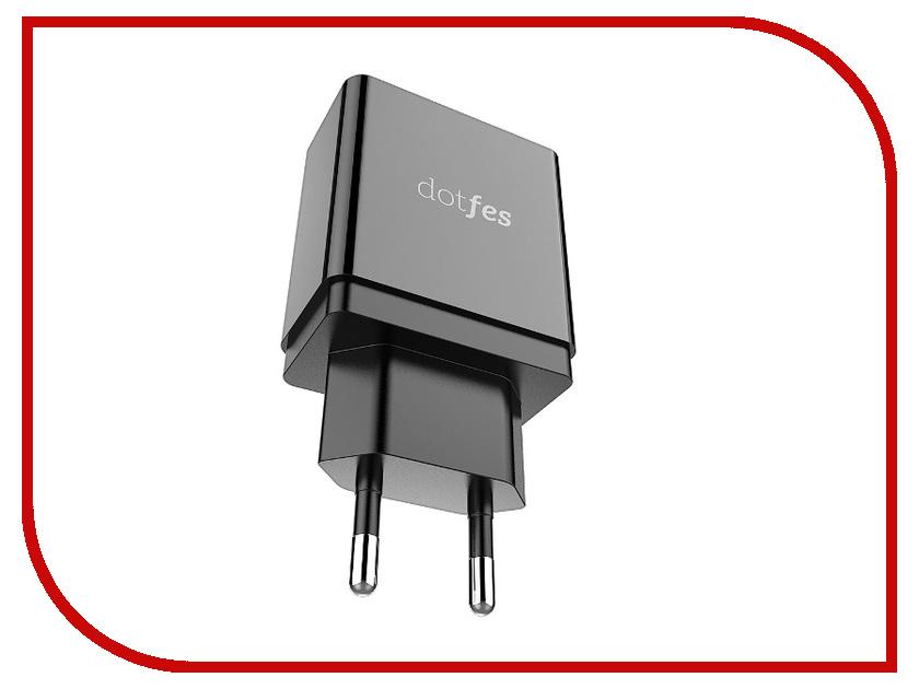 Зарядное устройство Dotfes C06 Black 02147 зарядное устройство dotfes c04 1a кабель lightning black
