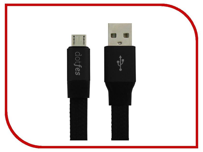 Аксессуар Dotfes Lightning A09 Self-Rolling 0.8m Black 14763 зарядное устройство dotfes c04 1a кабель lightning black
