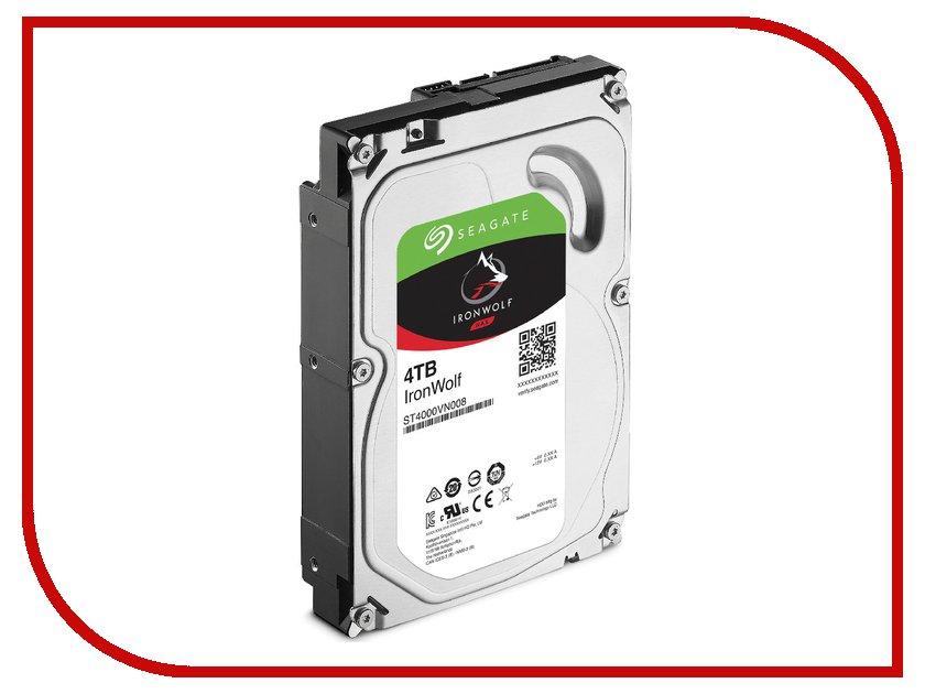 Жесткий диск 4Tb - Seagate IronWolf ST4000VN008 жесткий диск 4tb seagate ironwolf pro st4000ne0025