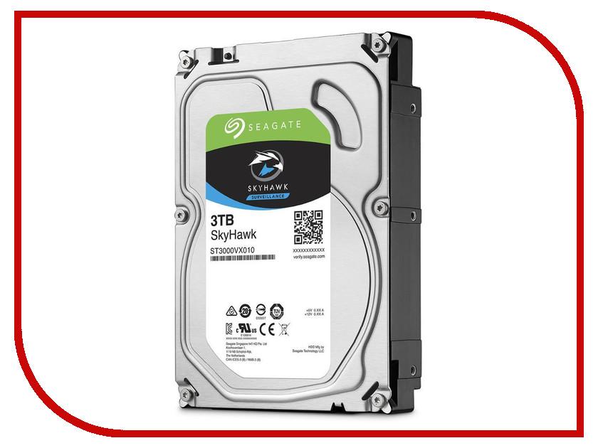 Жесткий диск 3Tb - Seagate SkyHawk Surveillance ST3000VX010 жесткий диск hdd 6тб seagate skyhawk st6000vx0023