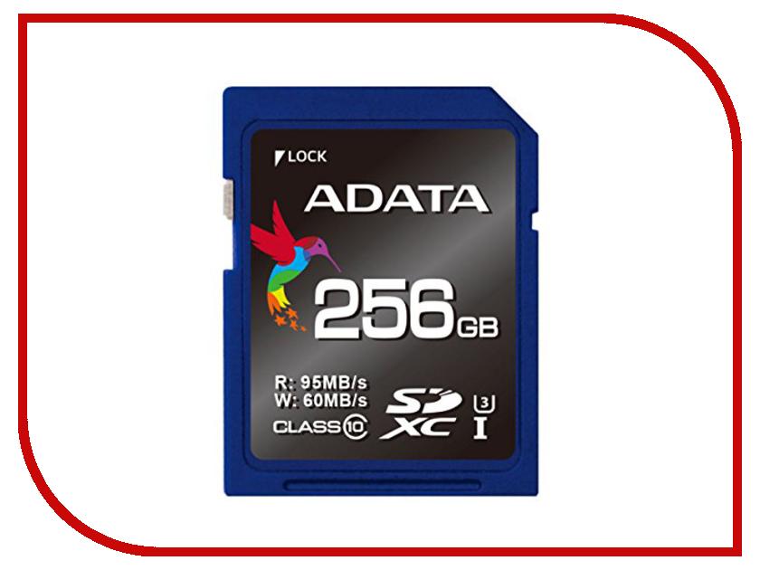 Карта памяти 256Gb - A-Data Premier Pro SDXC Class 10 UHS-I U3 ASDX256GUI3CL10-R жесткий диск 256gb a data premier pro sp600 asp600s3 256gm c