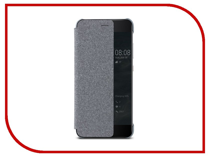 Аксессуар Чехол Huawei P10 Smart Cover Light Grey 51991888