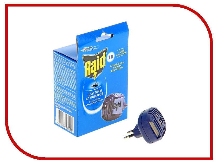 Средство защиты от комаров SC Johnson Raid Фумигатор + 10 пластин 23972