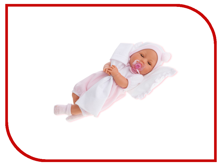 Кукла Antonio Juan Габи Pink с открывающимися глазами 1444P кукла antonio juan кукла вита pink 7030p