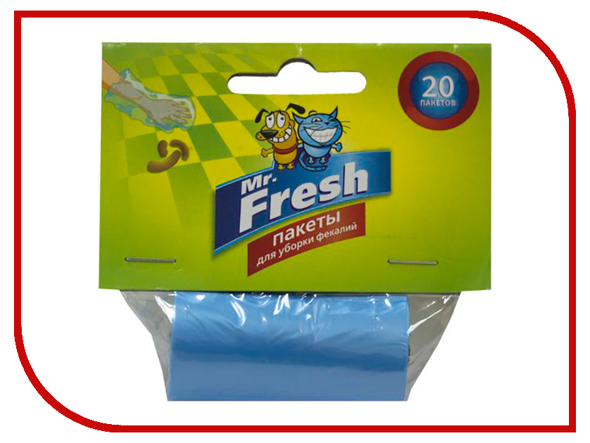 Пакеты для уборки фекалий Mr.Fresh 20 штук F302