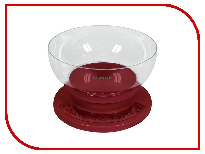 Весы Lumme LU-1303 Red lumme lu 1319 silver весы кухонные