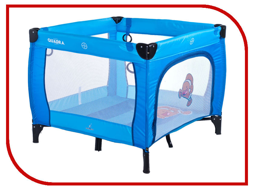 Манеж-кровать Caretero Quadra Blue