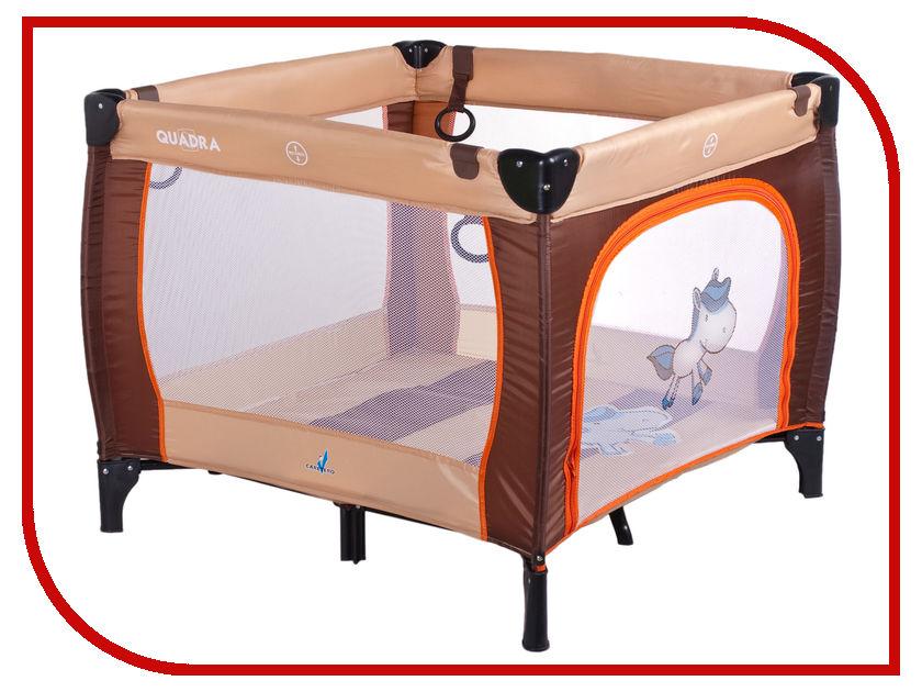 Манеж-кровать Caretero Quadra Brown