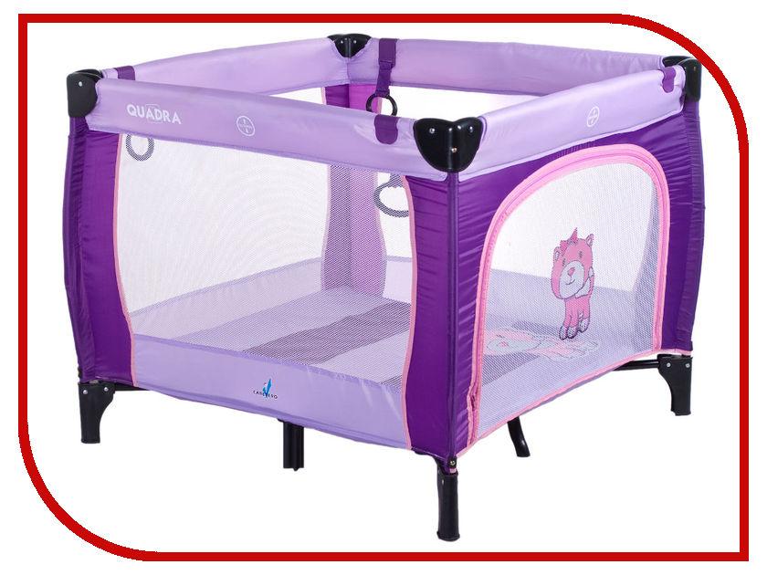 Манеж-кровать Caretero Quadra Purple
