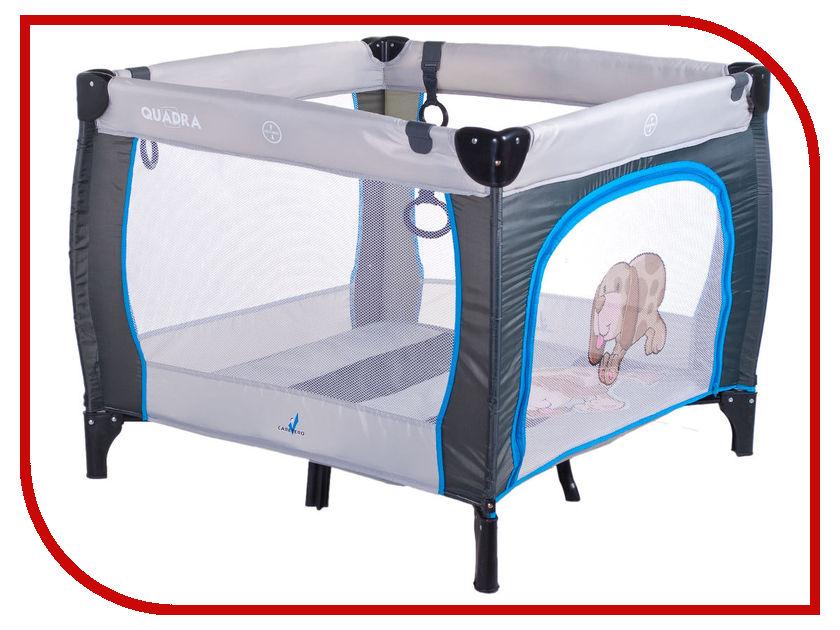 Манеж-кровать Caretero Quadra Grey
