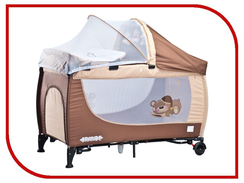 Манеж-кровать Caretero Grande Brown