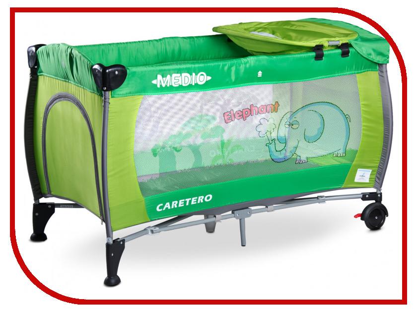 Манеж-кровать Caretero Medio Classic Green зеркало medio