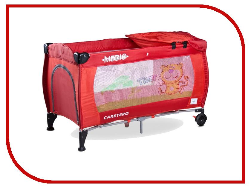 Манеж-кровать Caretero Medio Classic Red